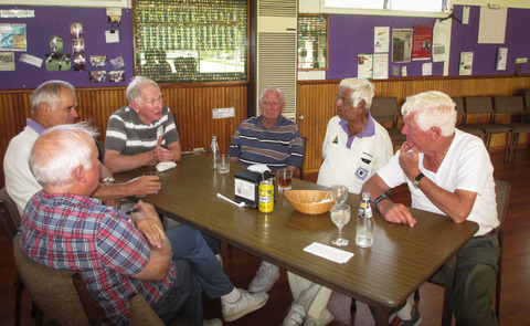 Having fellowship in the Club Rooms